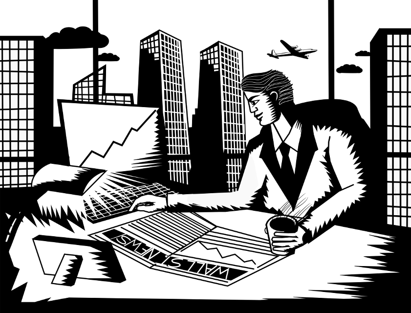Wall Street Businessman - Retro styled looks for tycoon concept